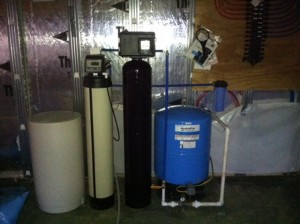 Pressure tank iron/sulphur removal and water softener in new house install