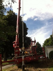 Installation of new Goulds pump using sch.80 drop pipe.
