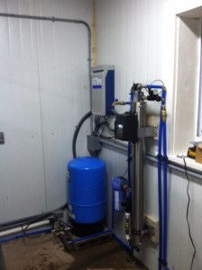 Constant pressure system with ultra filtration to remove red water